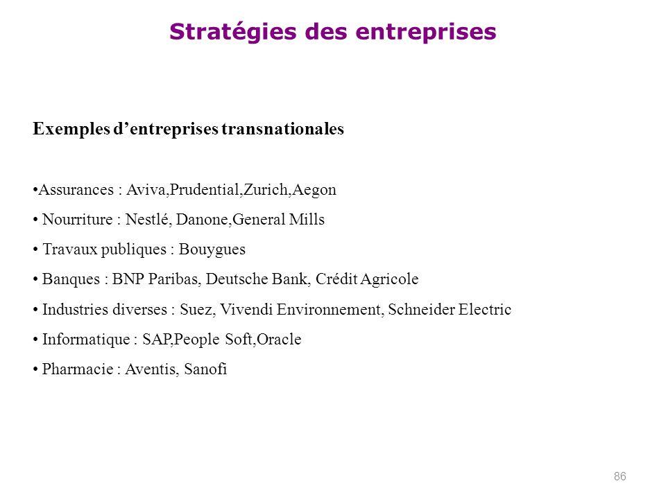 Exemples d'entreprises transnationales