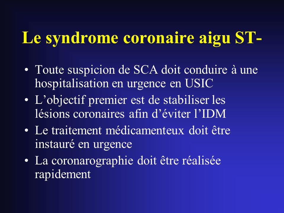 Le syndrome coronaire aigu ST-