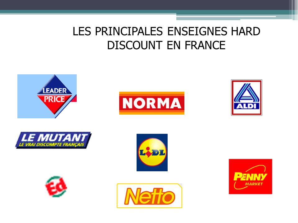LES PRINCIPALES ENSEIGNES HARD DISCOUNT EN FRANCE