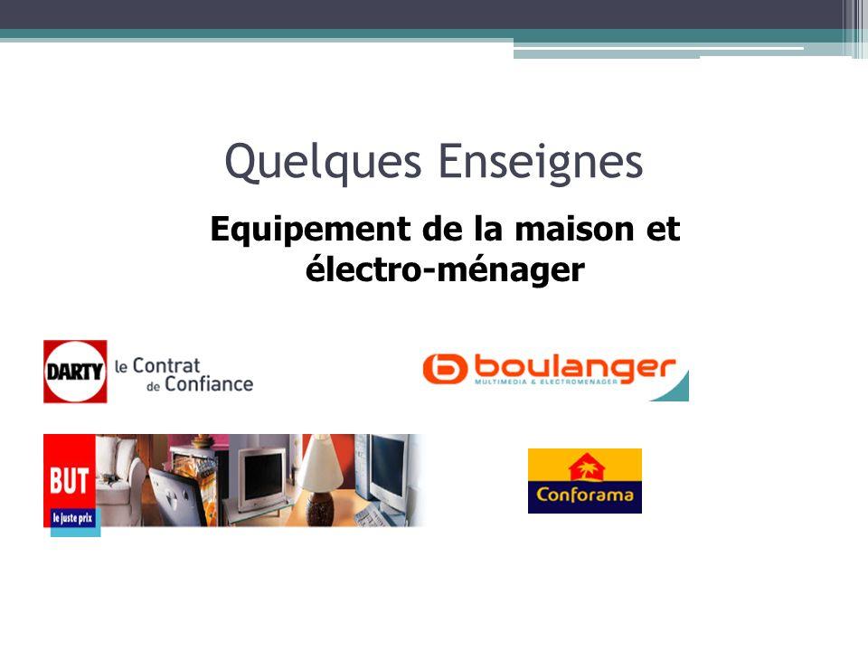 Equipement de la maison et électro-ménager