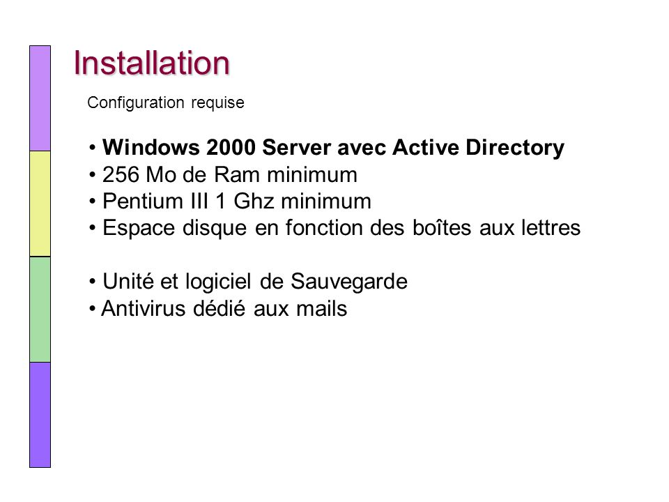 Installation Windows 2000 Server avec Active Directory