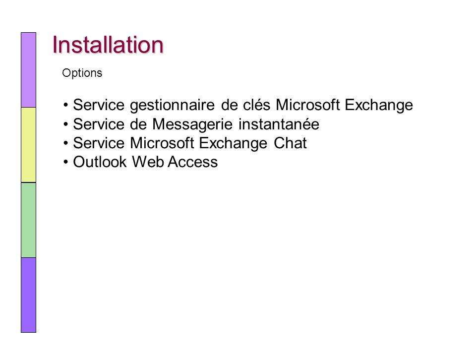 Installation Service gestionnaire de clés Microsoft Exchange