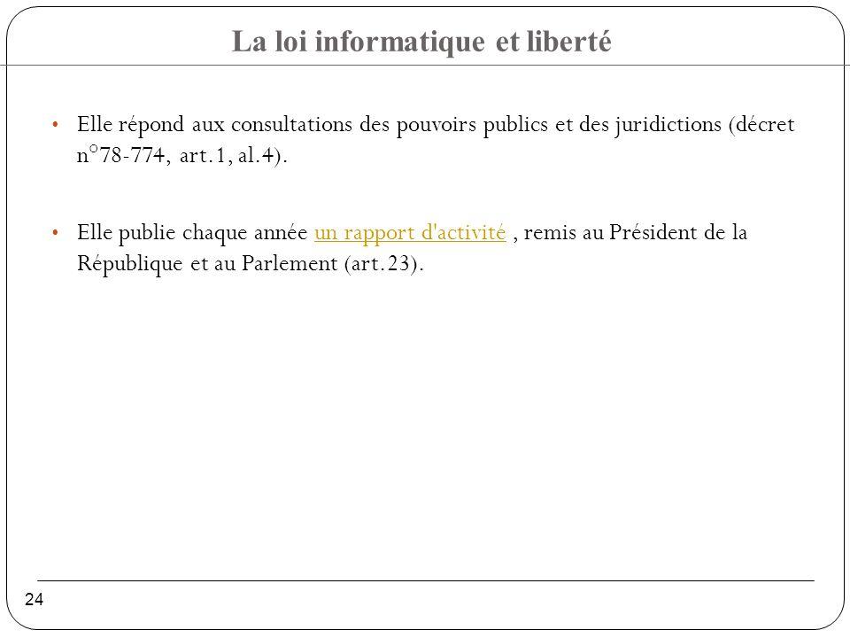 Elle répond aux consultations des pouvoirs publics et des juridictions (décret n°78-774, art.1, al.4).