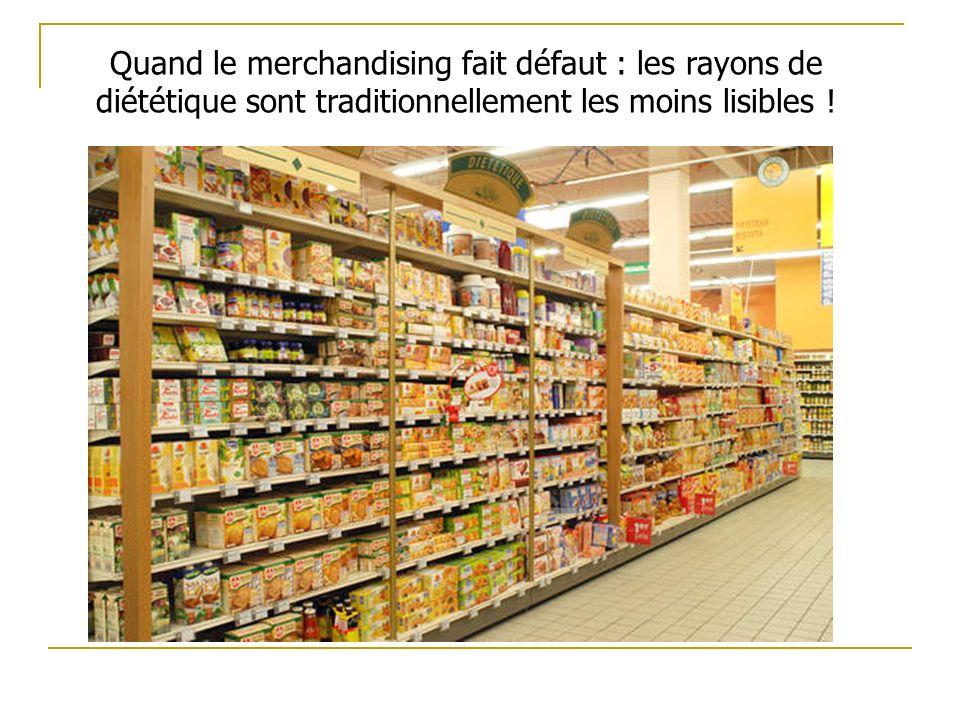 Quand le merchandising fait défaut : les rayons de diététique sont traditionnellement les moins lisibles !