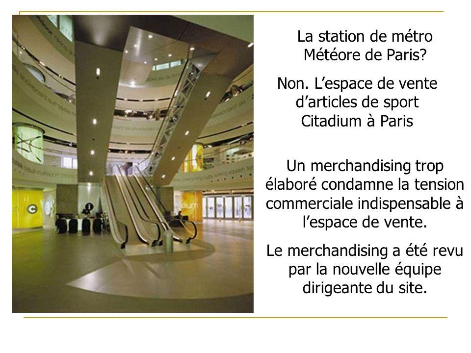 La station de métro Météore de Paris