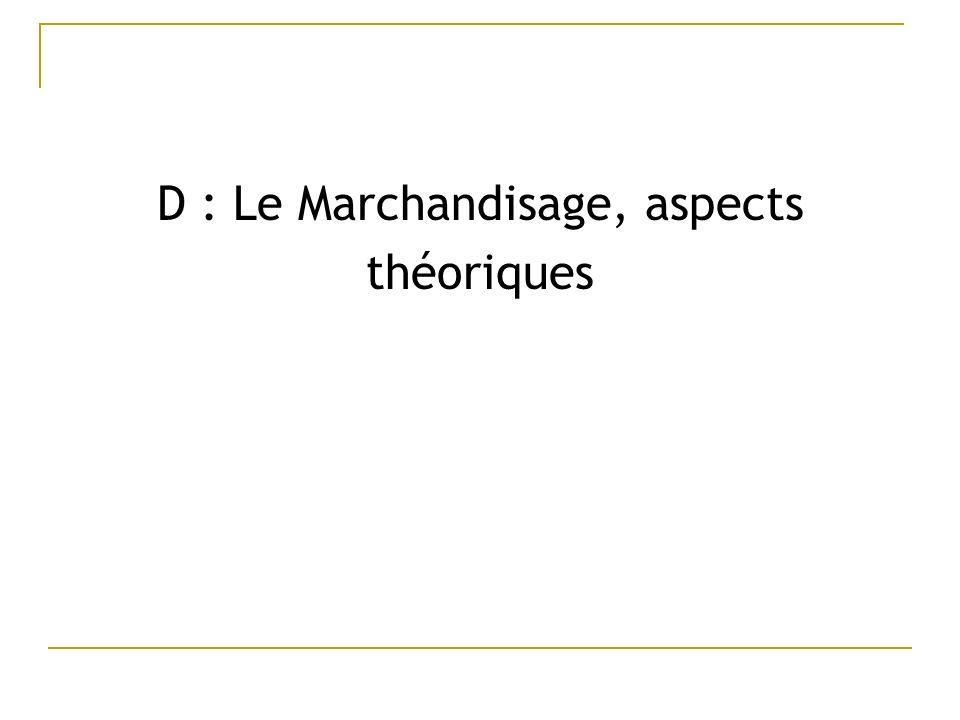 D : Le Marchandisage, aspects