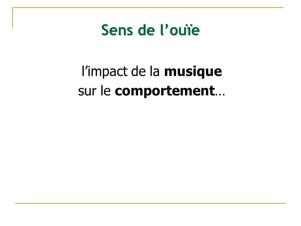 Sens de l'ouïe l'impact de la musique sur le comportement…