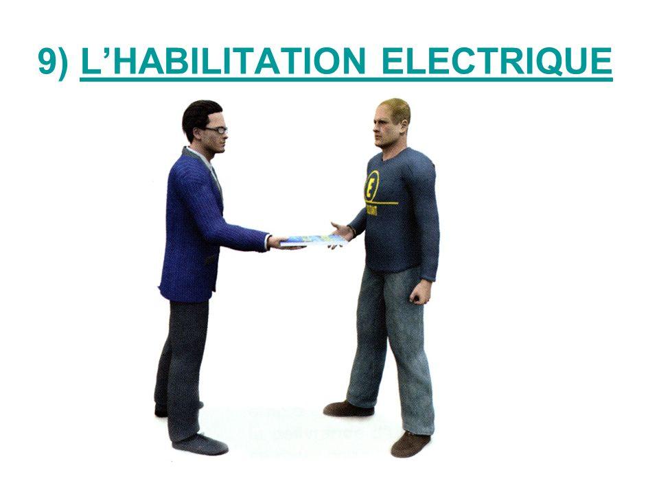 9) L'HABILITATION ELECTRIQUE