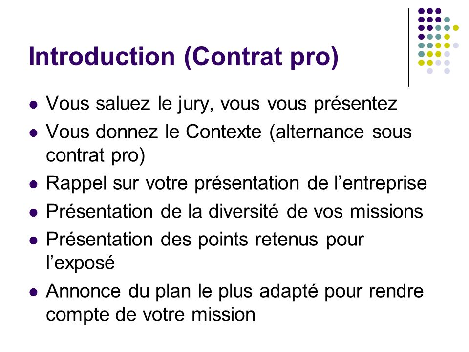 Introduction (Contrat pro)