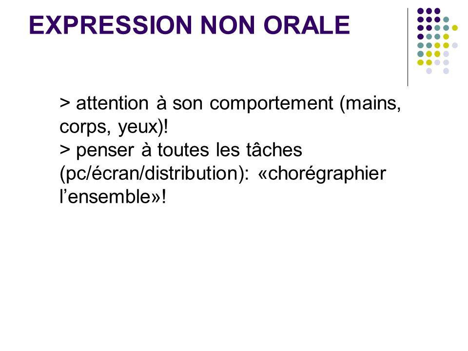 EXPRESSION NON ORALE