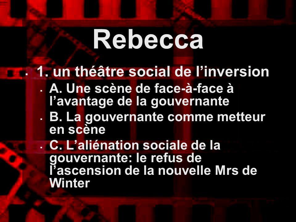 Rebecca 1. un théâtre social de l'inversion