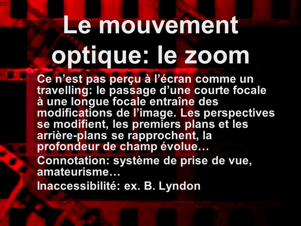 Le mouvement optique: le zoom