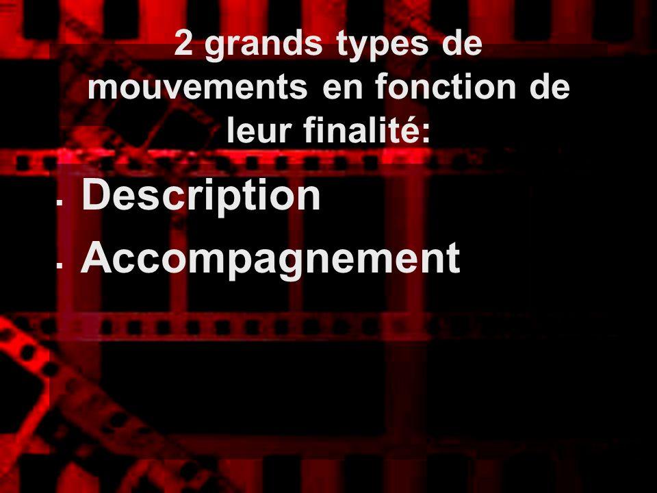 2 grands types de mouvements en fonction de leur finalité: