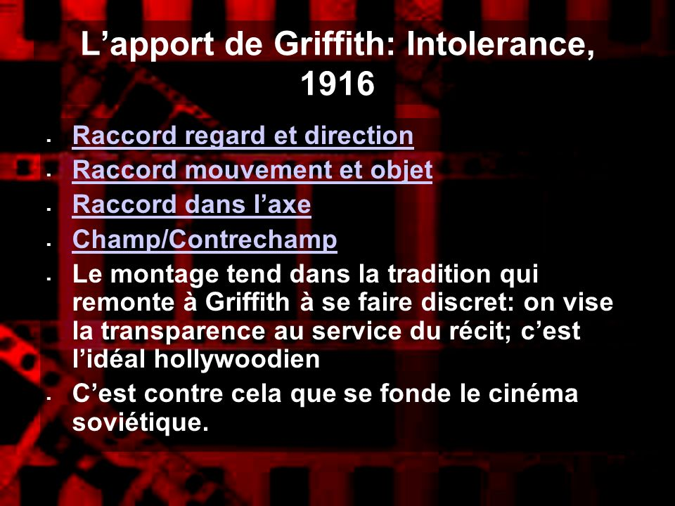 L'apport de Griffith: Intolerance, 1916