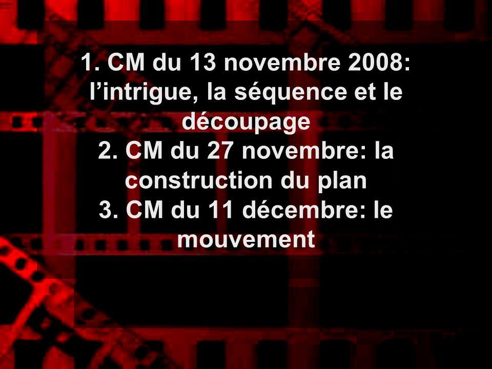 1. CM du 13 novembre 2008: l'intrigue, la séquence et le découpage 2