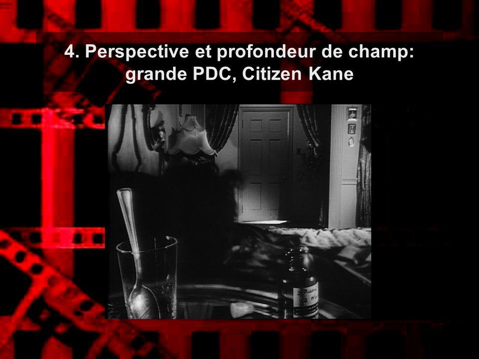 4. Perspective et profondeur de champ: grande PDC, Citizen Kane