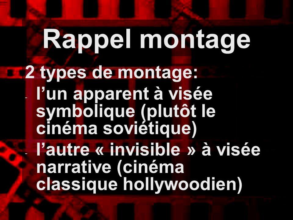 Rappel montage 2 types de montage: