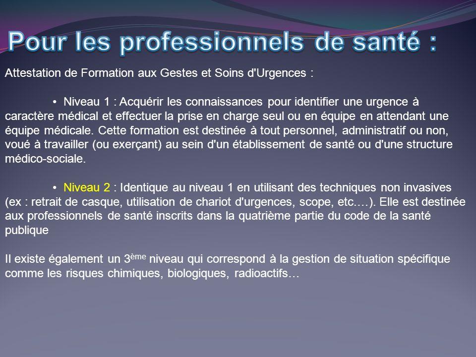 Pour les professionnels de santé :