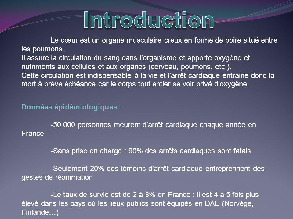 Introduction Le cœur est un organe musculaire creux en forme de poire situé entre les poumons.