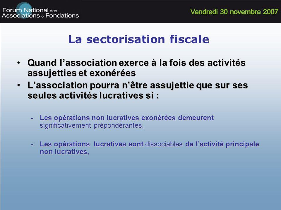 La sectorisation fiscale