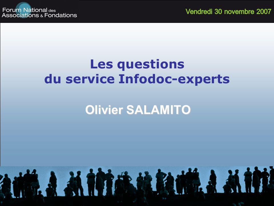 Les questions du service Infodoc-experts