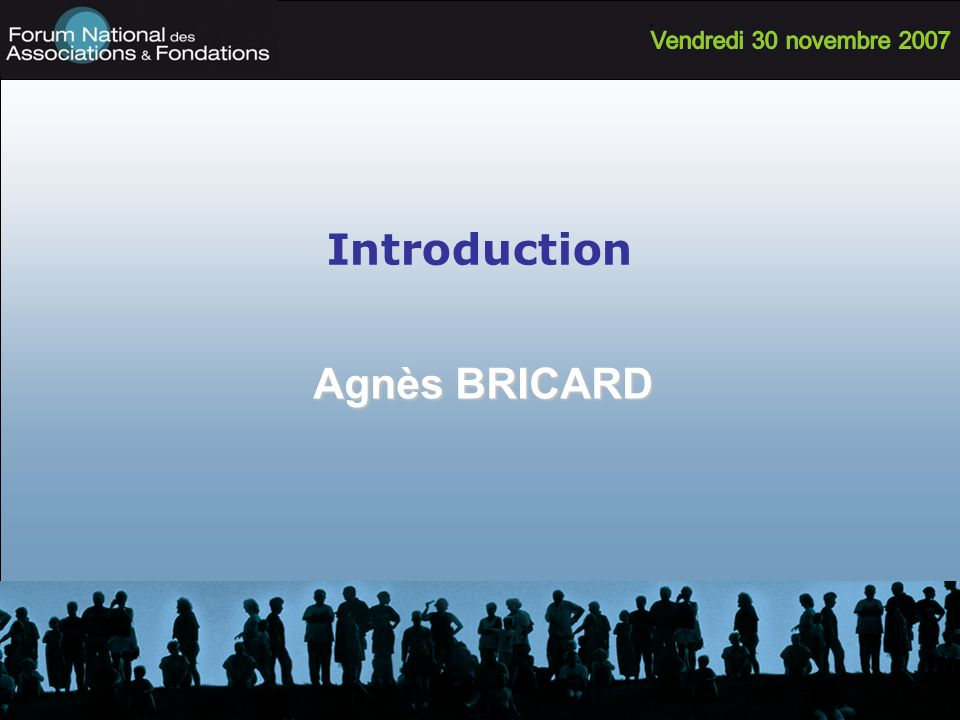 Introduction Agnès BRICARD