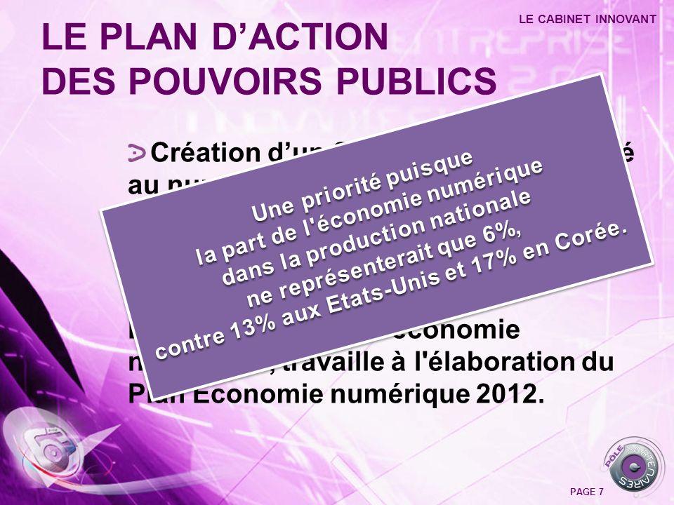 LE PLAN D'ACTION DES POUVOIRS PUBLICS
