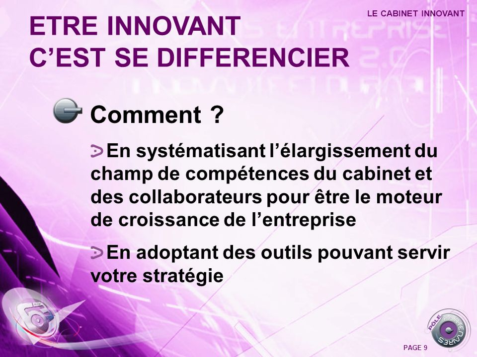 ETRE INNOVANT C'EST SE DIFFERENCIER Comment