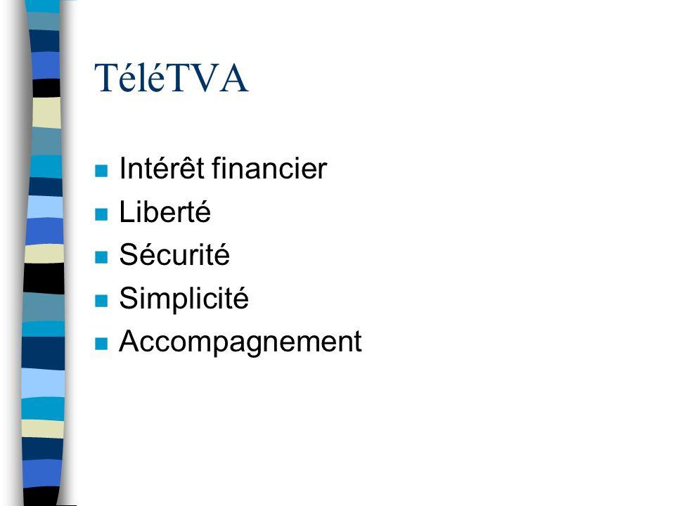 TéléTVA Intérêt financier Liberté Sécurité Simplicité Accompagnement
