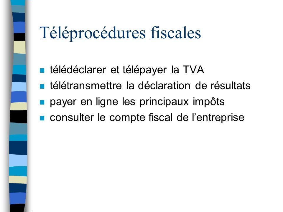 Téléprocédures fiscales
