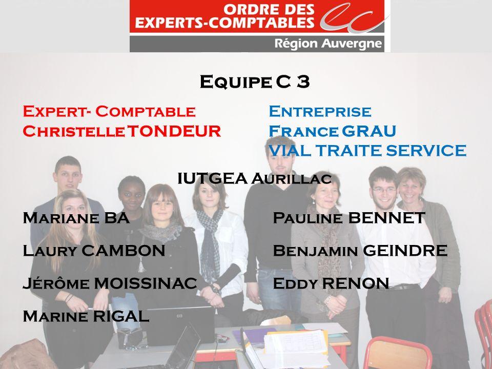 Equipe C 3 Expert- Comptable Entreprise Christelle TONDEUR France GRAU