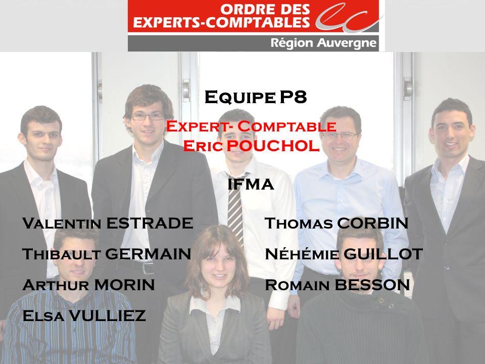 Equipe P8 Expert- Comptable Eric POUCHOL IFMA