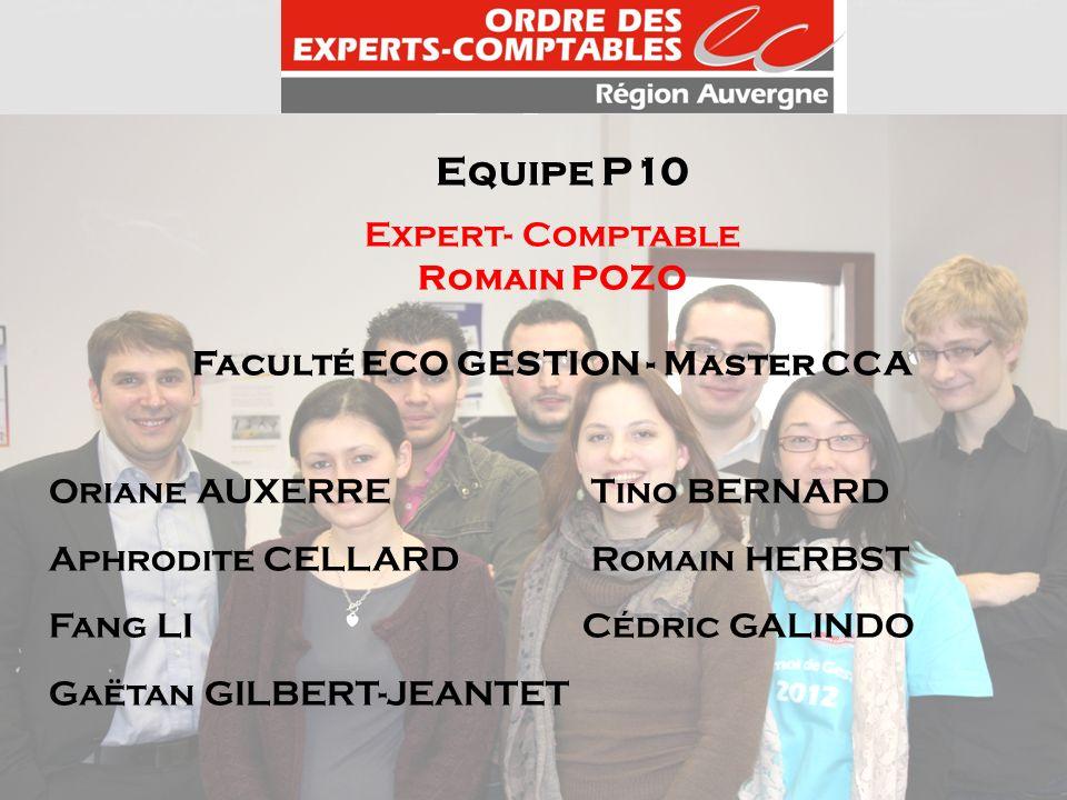 Faculté ECO GESTION - Master CCA