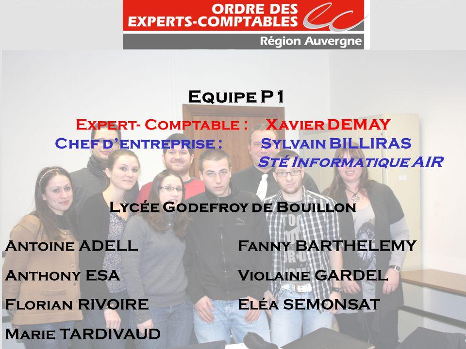 Chef d'entreprise : Sylvain BILLIRAS Lycée Godefroy de Bouillon