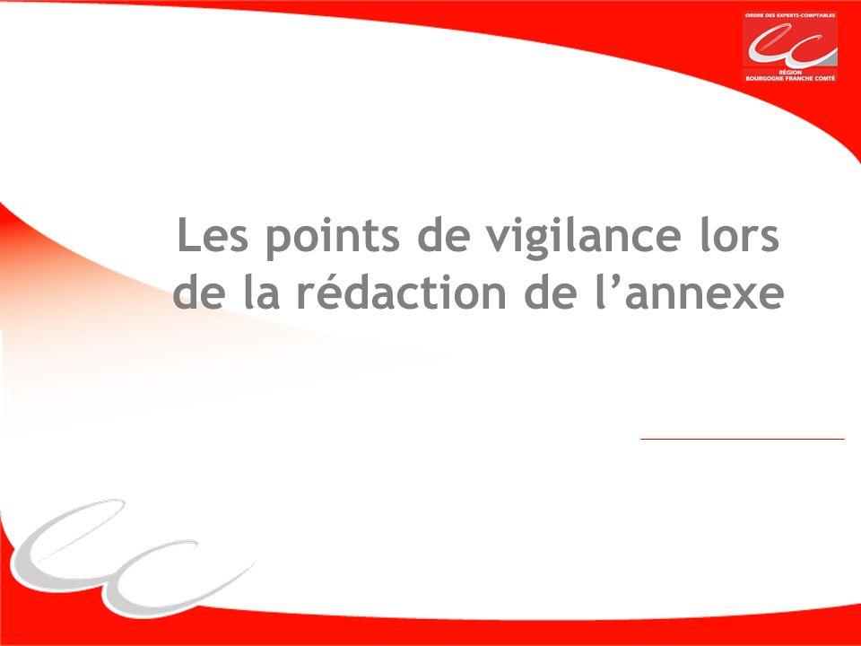 Les points de vigilance lors de la rédaction de l'annexe