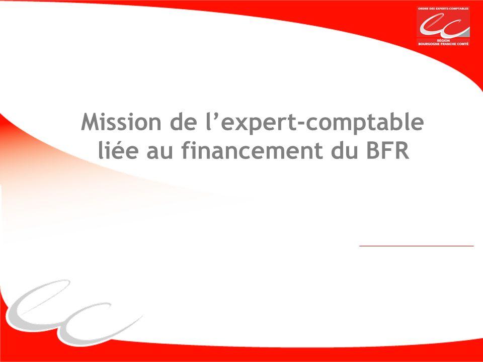 Mission de l'expert-comptable liée au financement du BFR