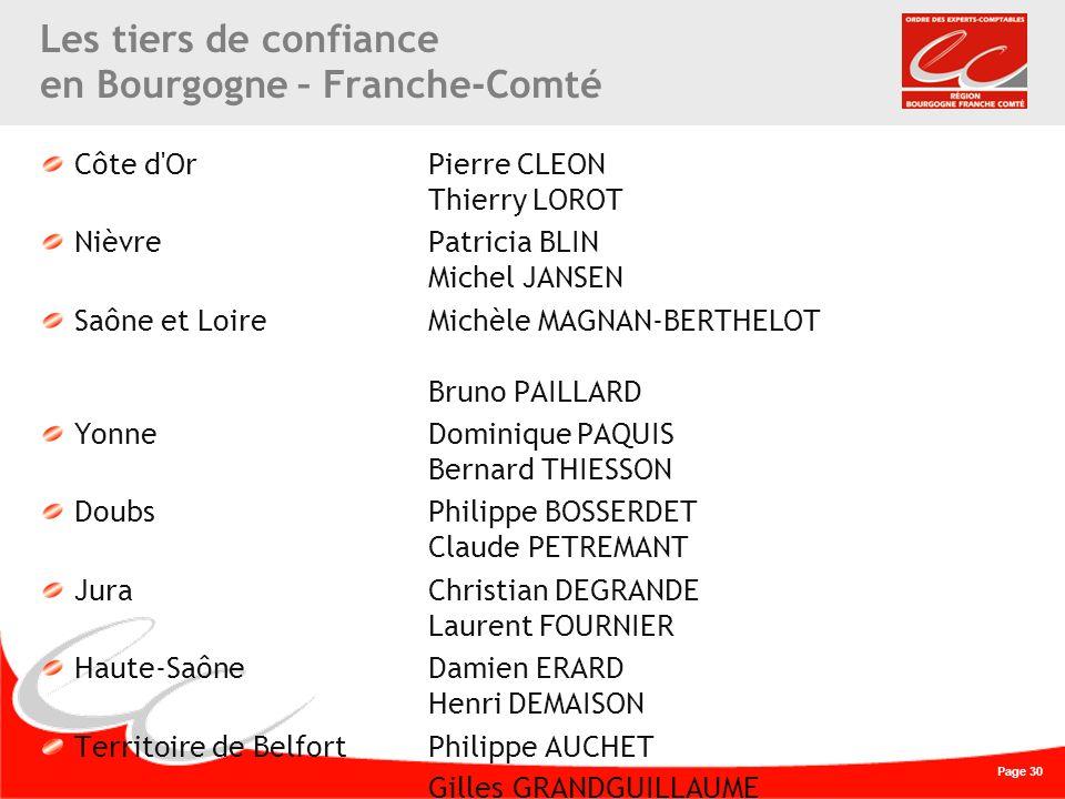 Les tiers de confiance en Bourgogne – Franche-Comté