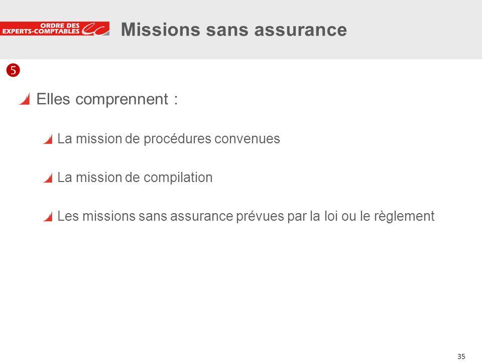 Missions sans assurance