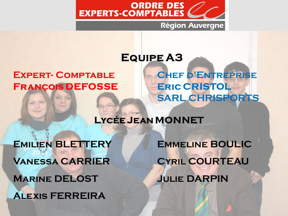 Equipe A3 Expert- Comptable Chef d'Entreprise