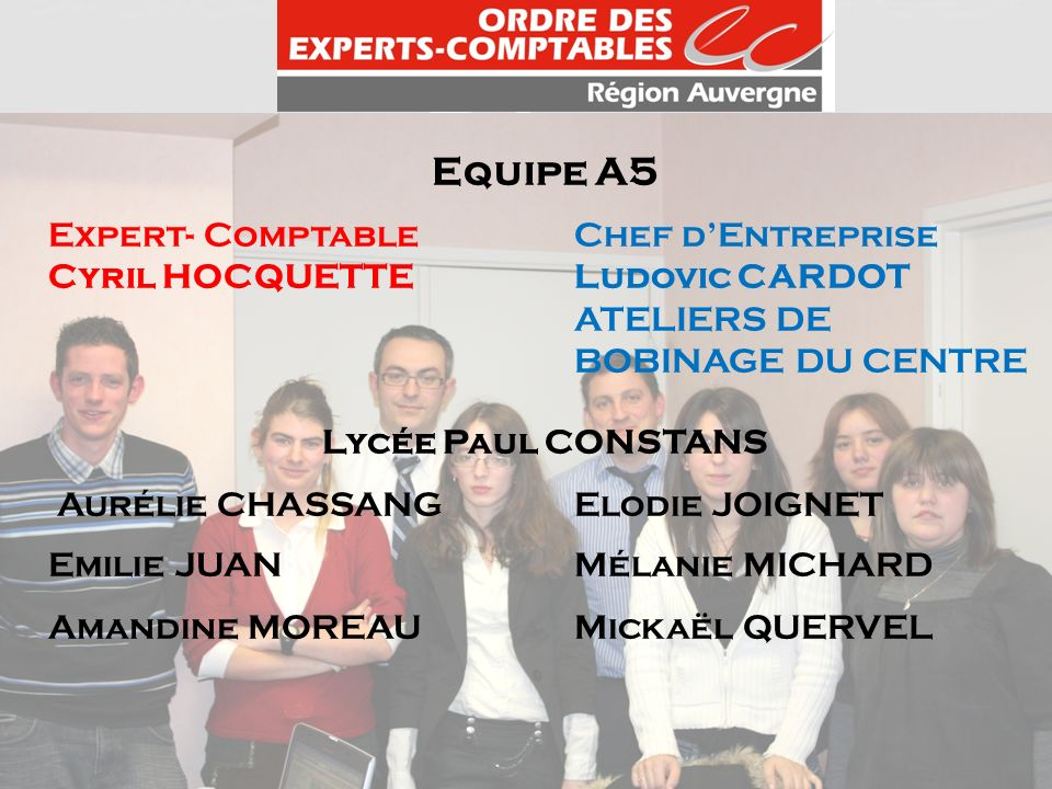 Equipe A5 Expert- Comptable Chef d'Entreprise