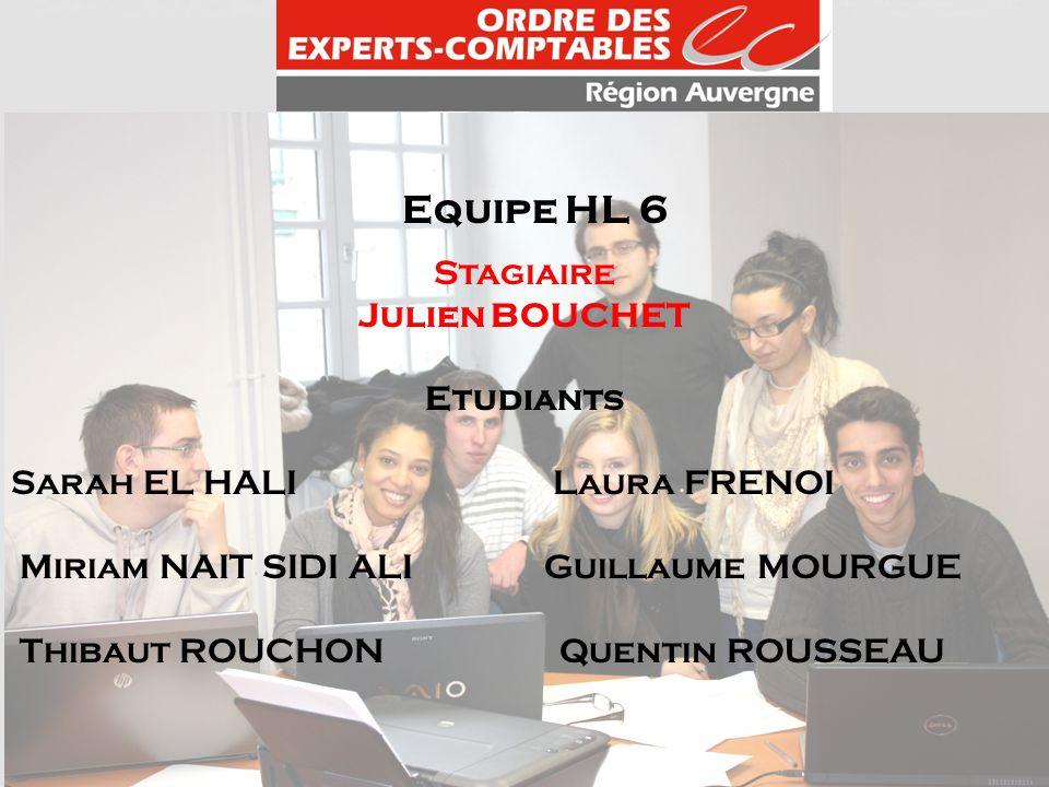 Equipe HL 6 Stagiaire Julien BOUCHET Etudiants