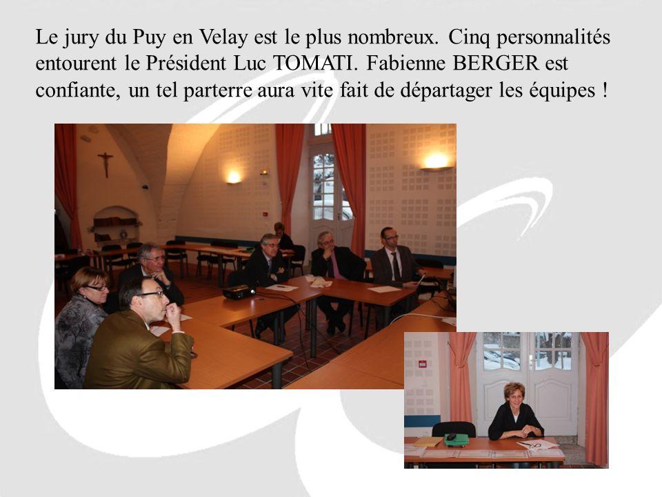 Le jury du Puy en Velay est le plus nombreux