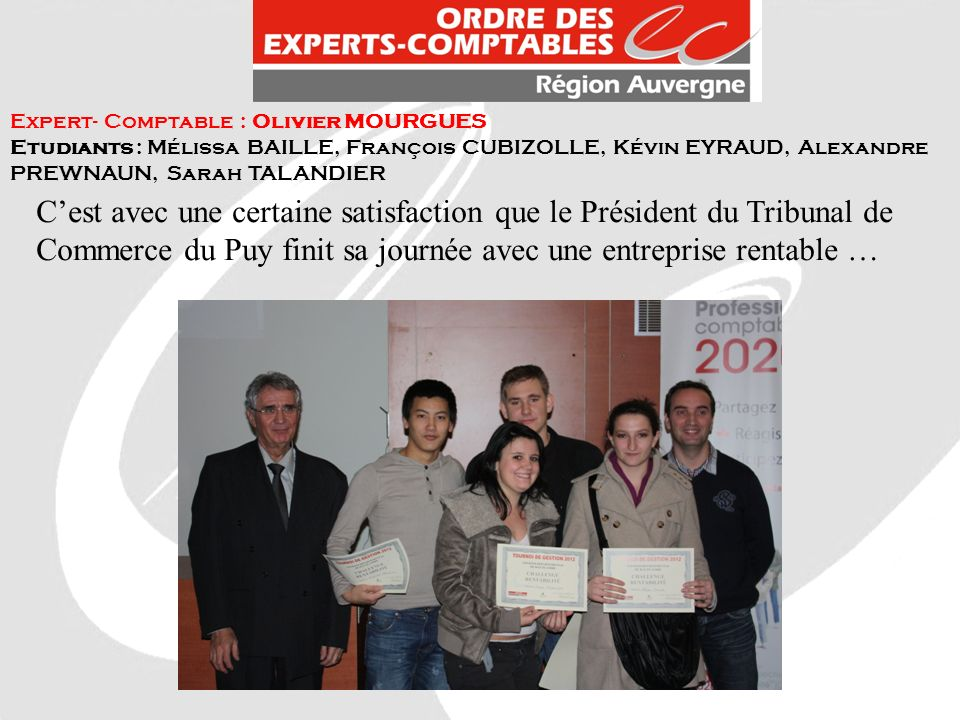 Expert- Comptable : Olivier MOURGUES