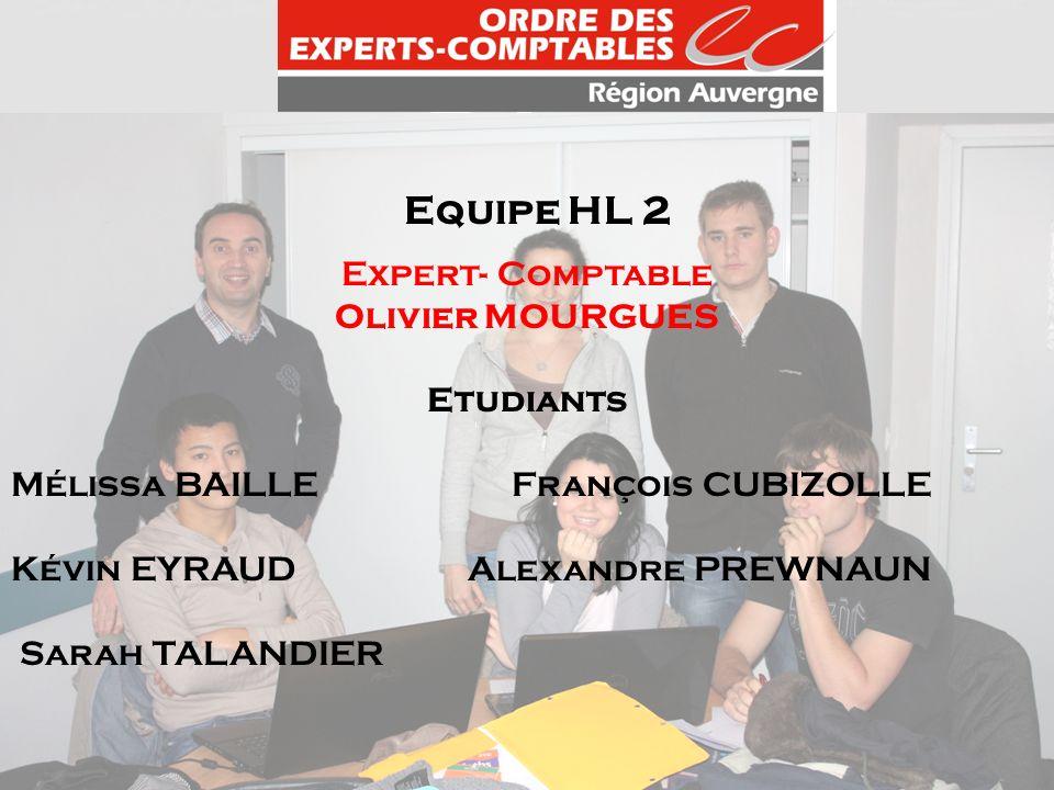 Equipe HL 2 Expert- Comptable Olivier MOURGUES Etudiants