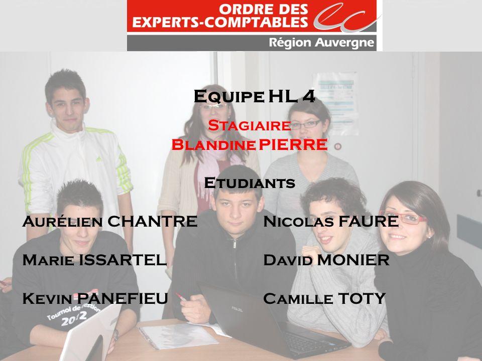 Equipe HL 4 Stagiaire Blandine PIERRE Etudiants