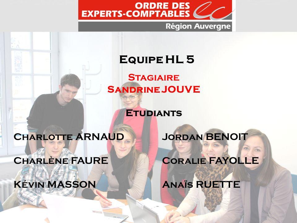 Equipe HL 5 Stagiaire Sandrine JOUVE Etudiants