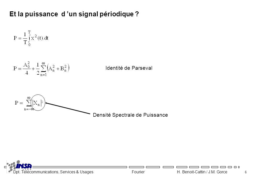 Et la puissance d 'un signal périodique