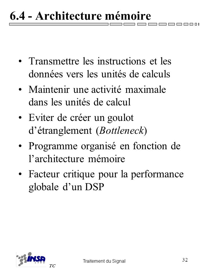6.4 - Architecture mémoire