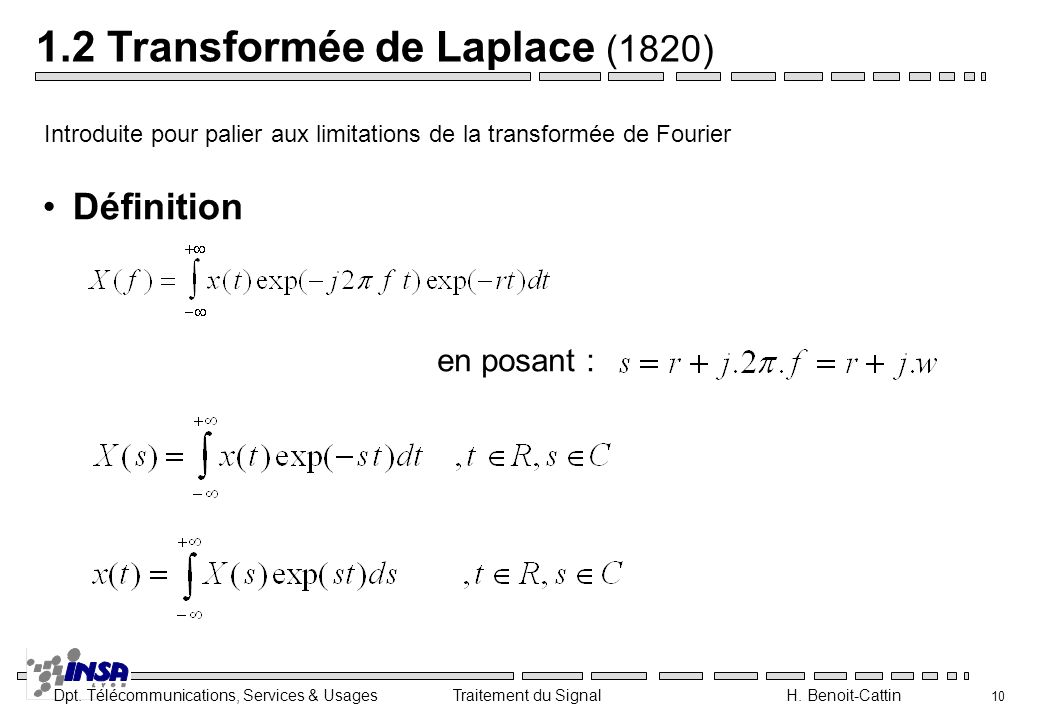 1.2 Transformée de Laplace (1820)