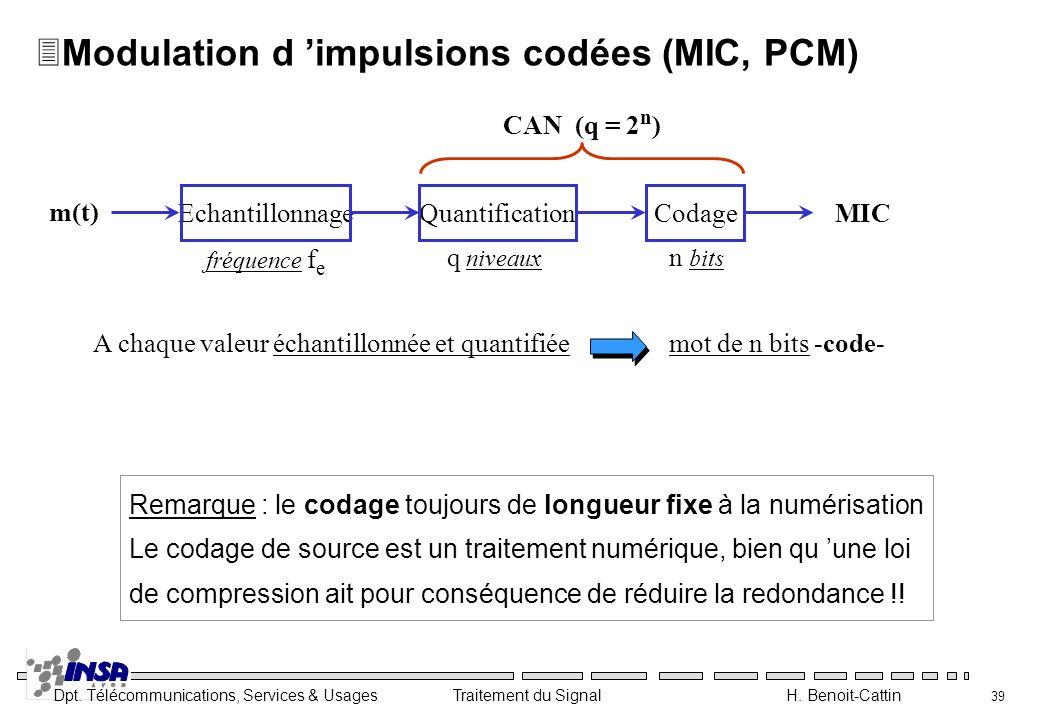 Modulation d 'impulsions codées (MIC, PCM)
